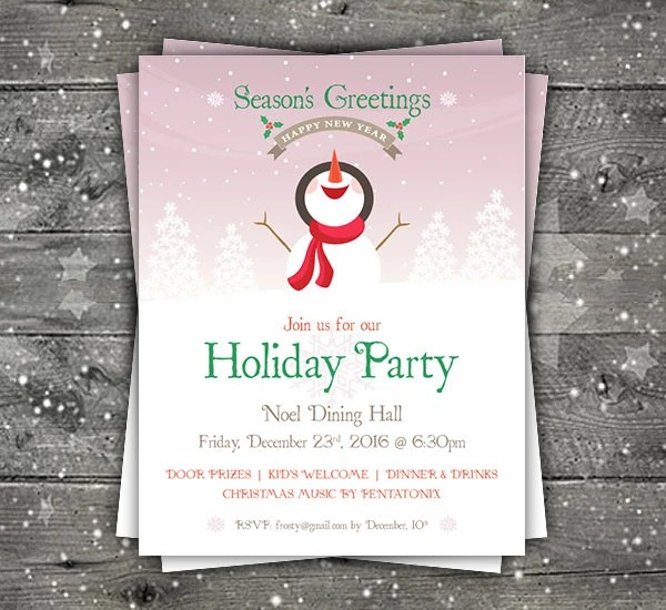 Christmas Flyer Christmas Invite Christmas Party Flyer Etsy