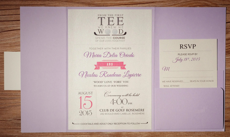 Golf Invitation Golf Wedding Invitation Golf Invitations Etsy