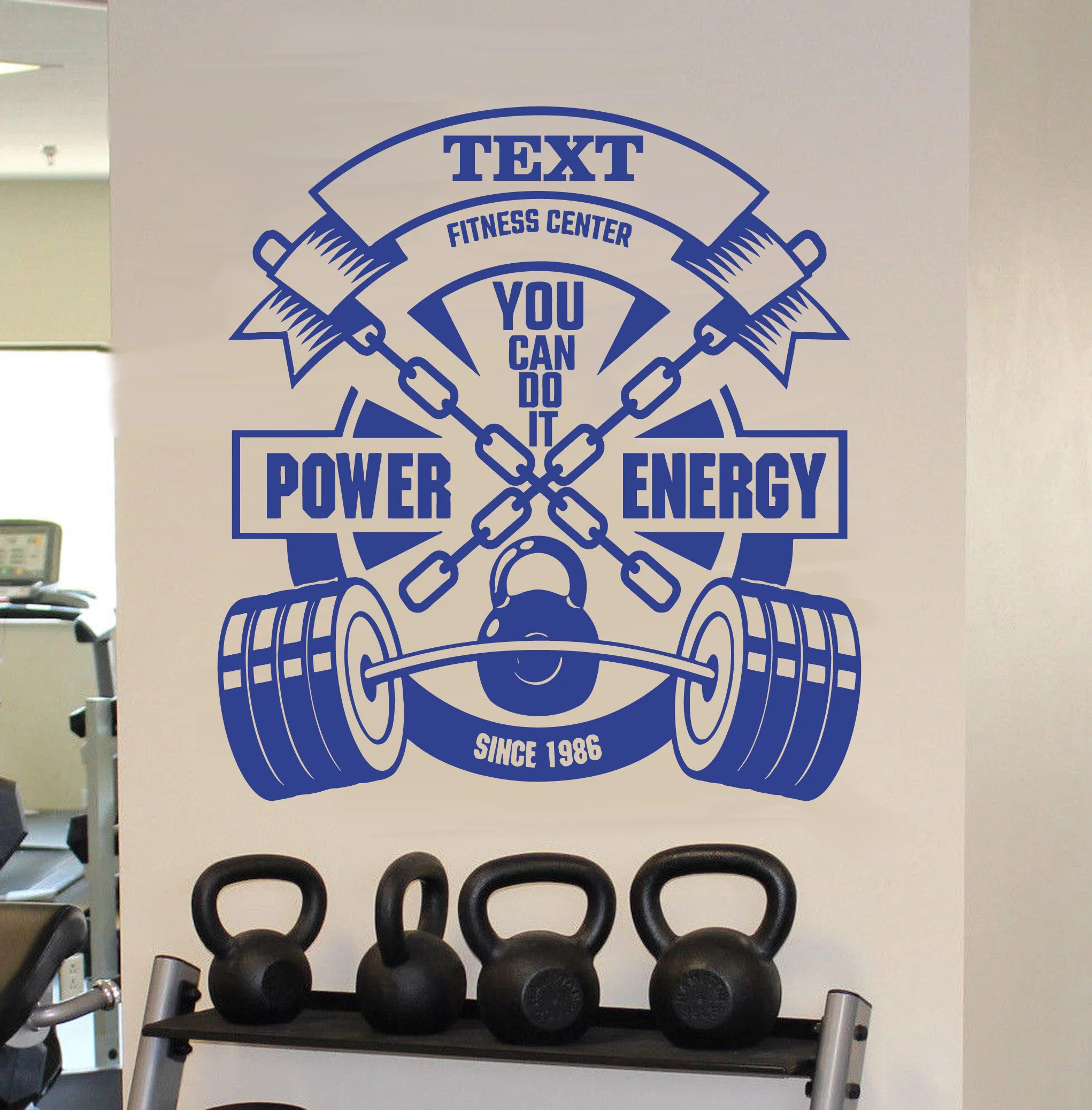Garage Gym Wall Decor Personalized Gym Wall Decal Fitness Center Wall Sticker Garage Gym Wall Decor Crossfit Motivation Wall Decal Gym Wall Mural Art Se084