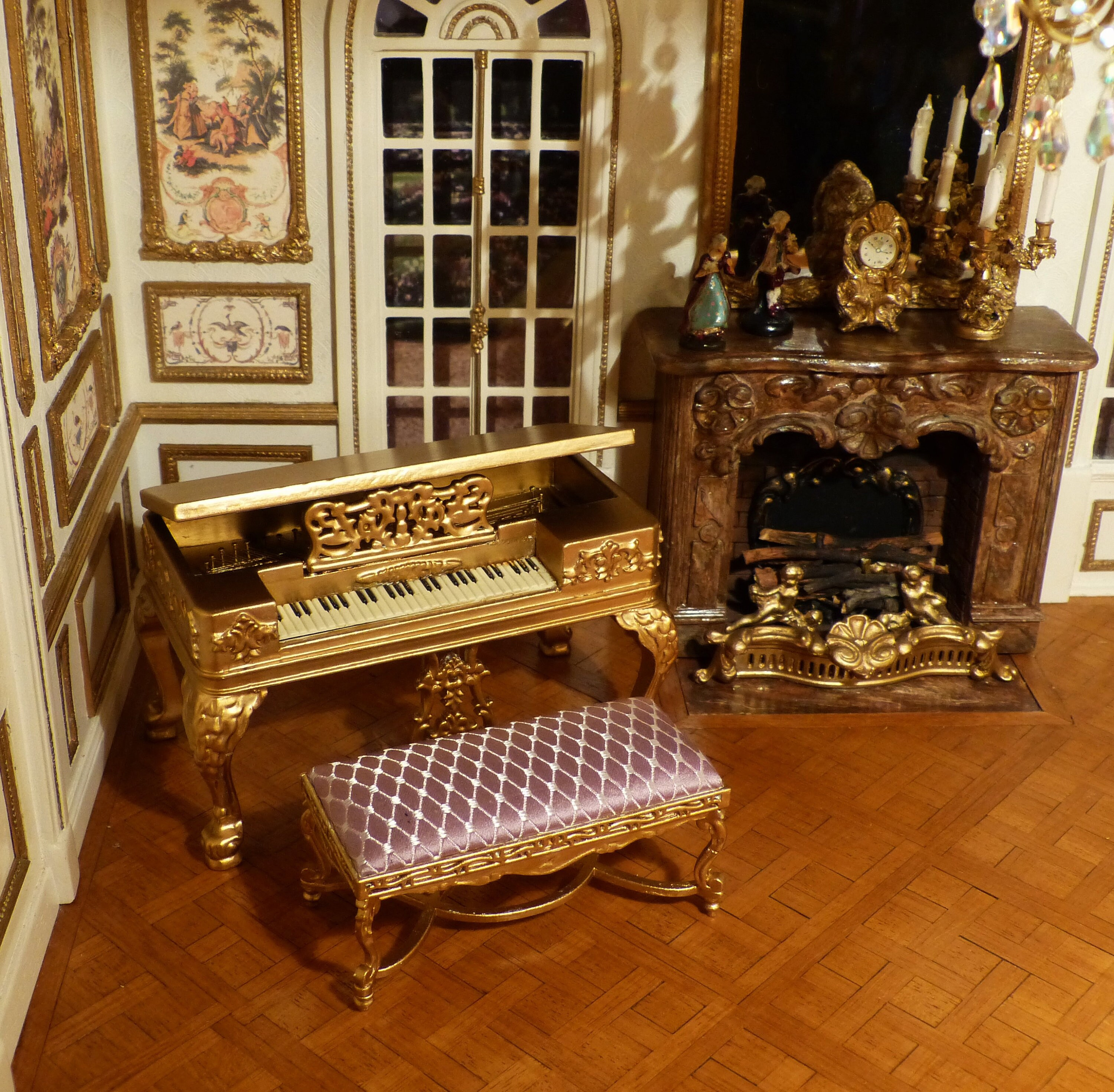 Meuble Salon Louis Xv Tunis Piano And Its Louis Xv Style Miniatures Bench Xviii Scale 1 12 Furniture Decoration For Doll S House