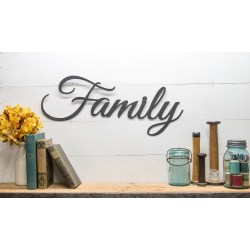 Charmful Rustic Family Metal Farmhouse Home Country Family Sign Rustic Word Wall House Warming Gift Ideas Rustic Family Metal Farmhouse Home Country Family Sign