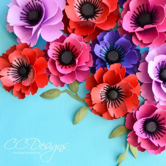 Small Poppy Flower Template, SVG Cut File Flower Pattern, Flower
