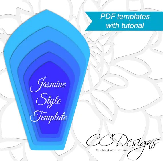 Printable Giant Paper Flower Templates, Large Paper Flower Patterns