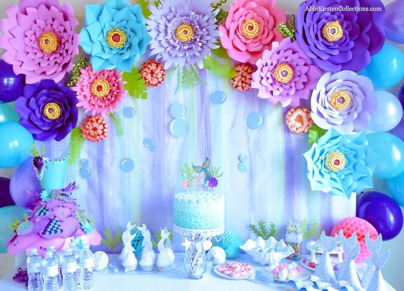 Set of 5 Giant Paper flower templates Large DIY backdrop Etsy