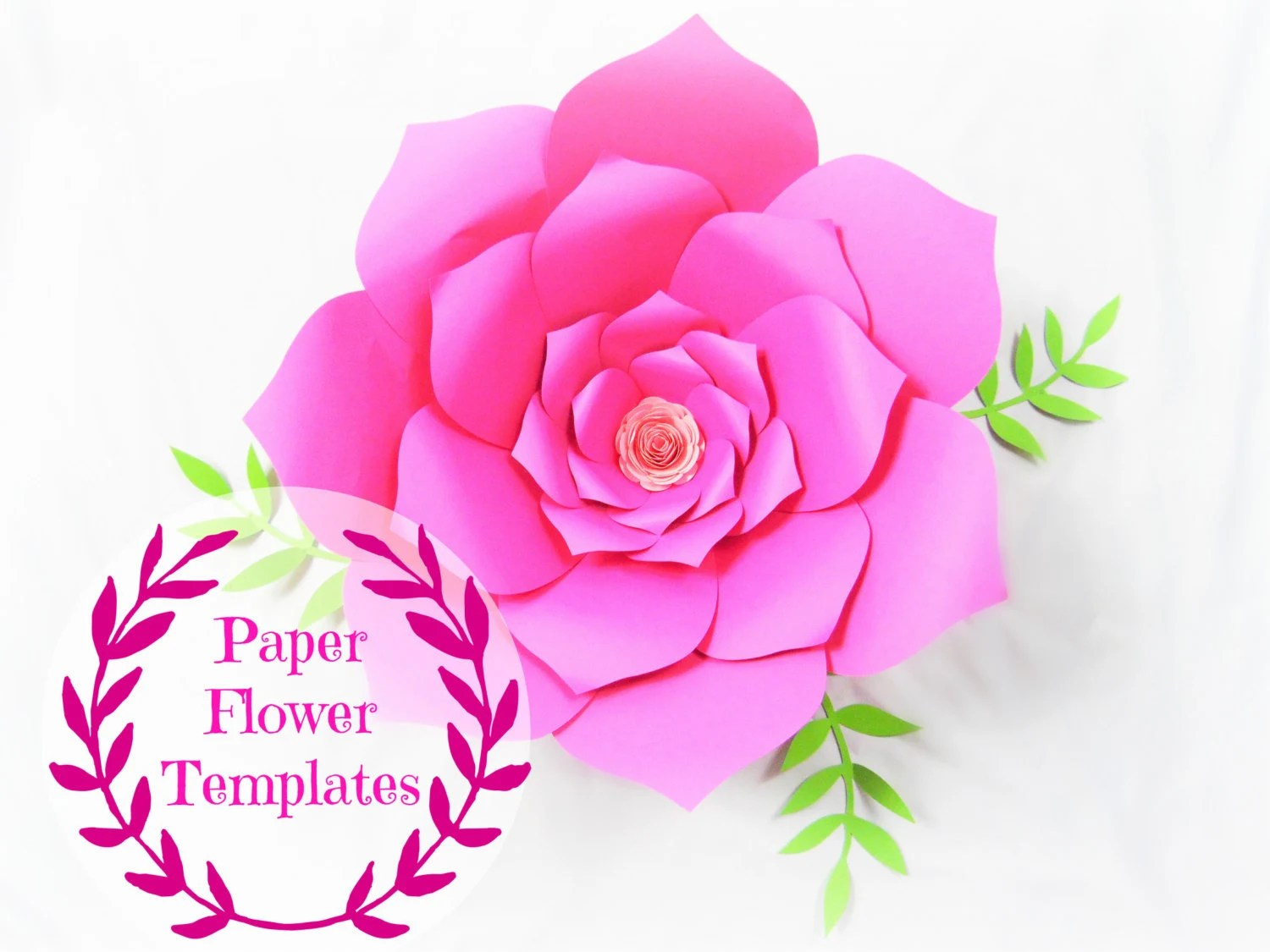 DIY Wedding Paper flowers- Flower templates- SVG cut files- Backdrop
