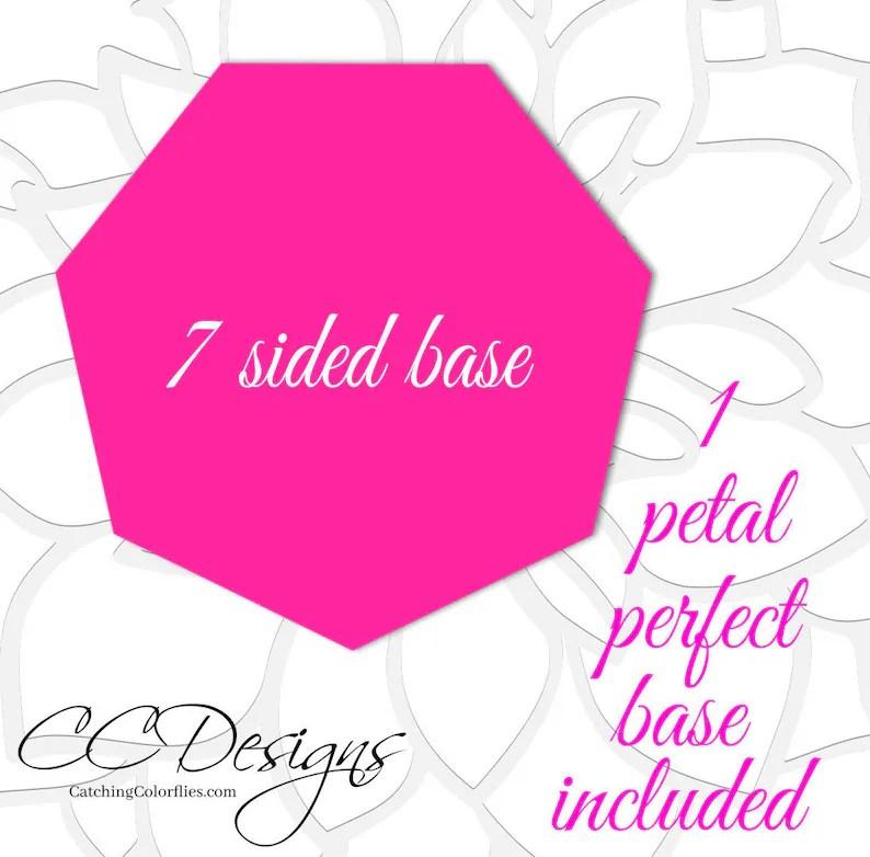 Printable PDF Paper Rose Templates Giant Paper Rose Flower Etsy