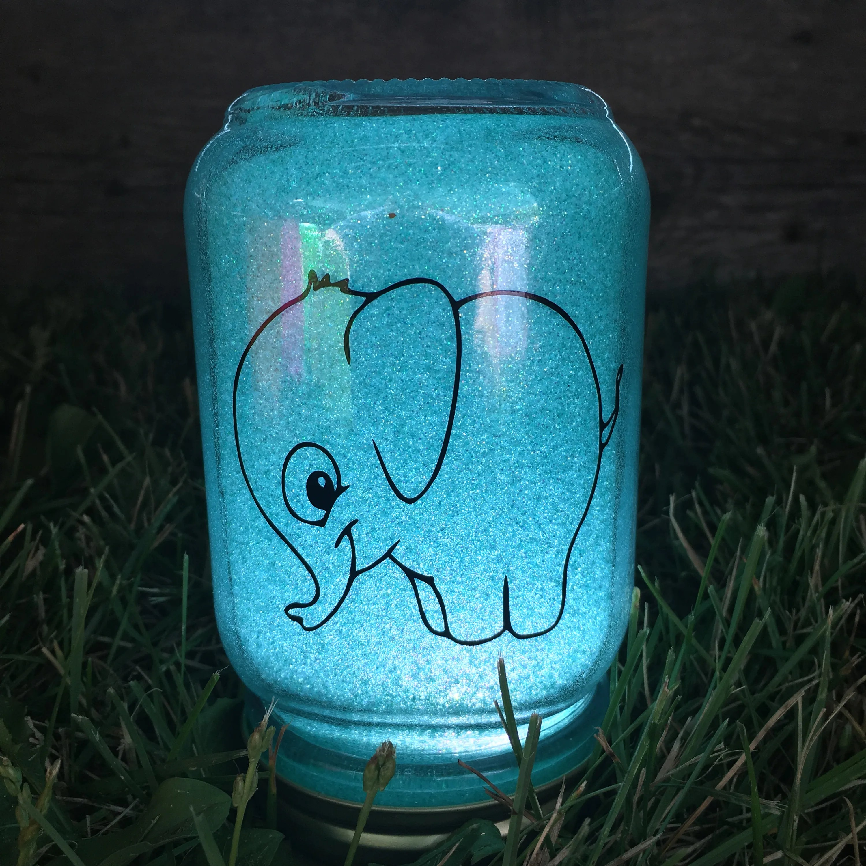 Elephant Night Light Elephant Night Light Baby Shower Gift Nursery Decor Mason