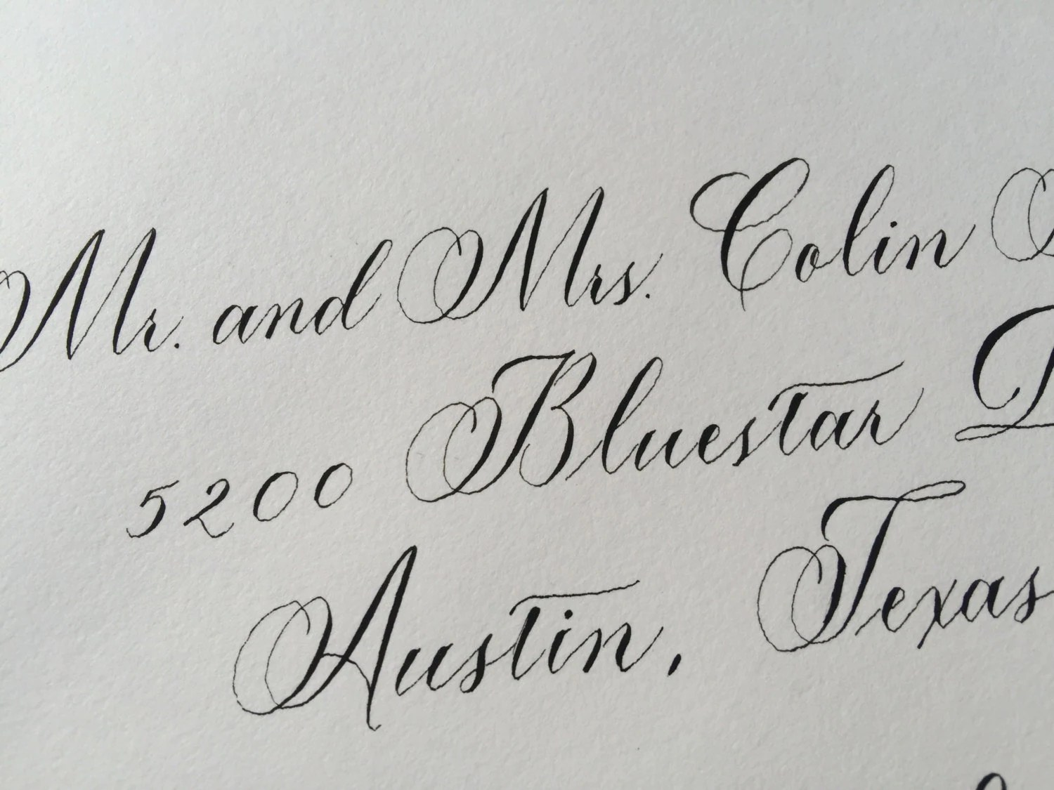 Copperplate Calligraphy Font Free Wedding Envelope Hand Lettered With Copperplate Calligraphy