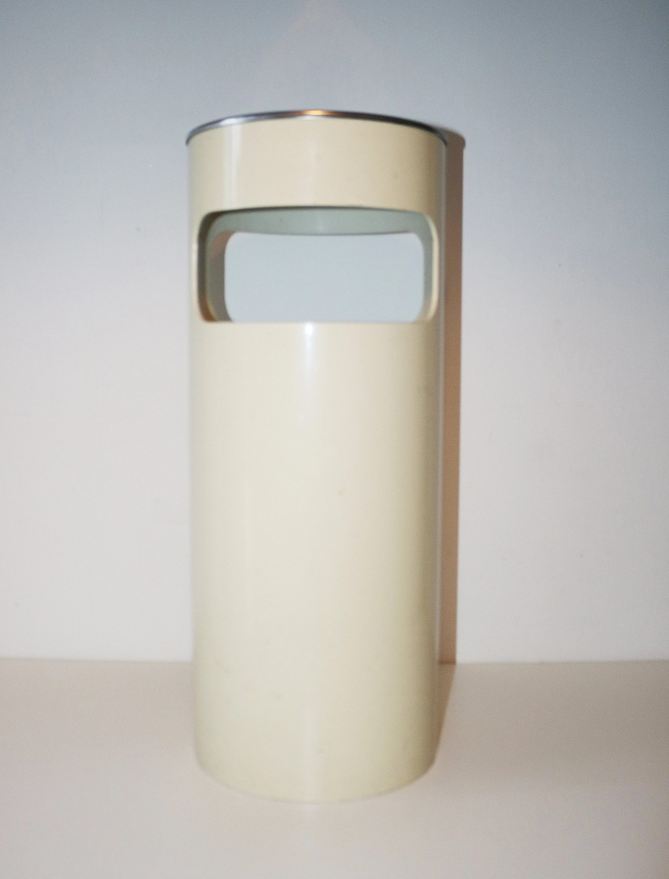 Kartell Container Kartell Umbrella Stand Waste Bin With Original Ashtray White Plastic Chrome And Black Enamel