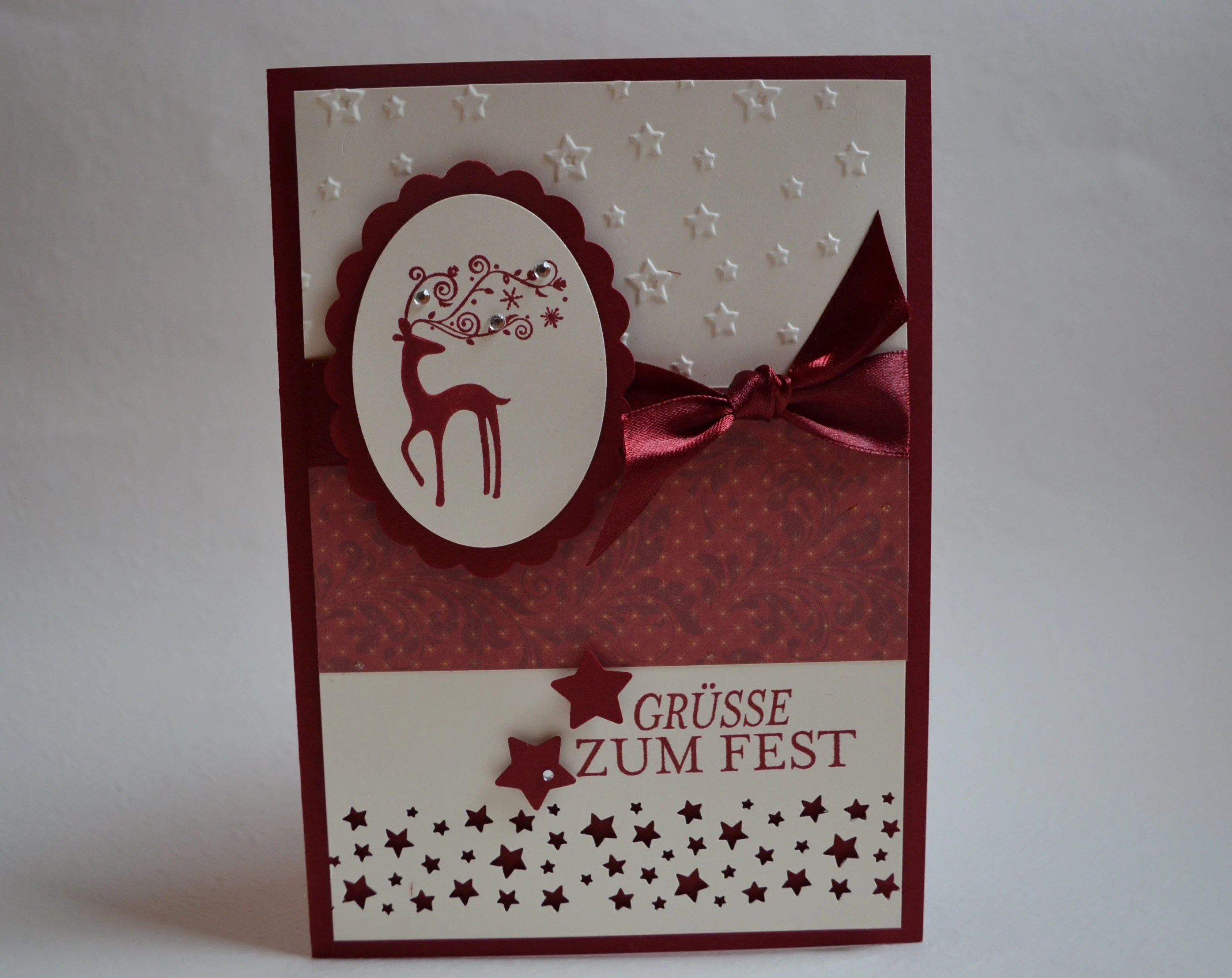Stampin Up Karten Groesse Christmas Card Stampin Up Dasher Roe Deer