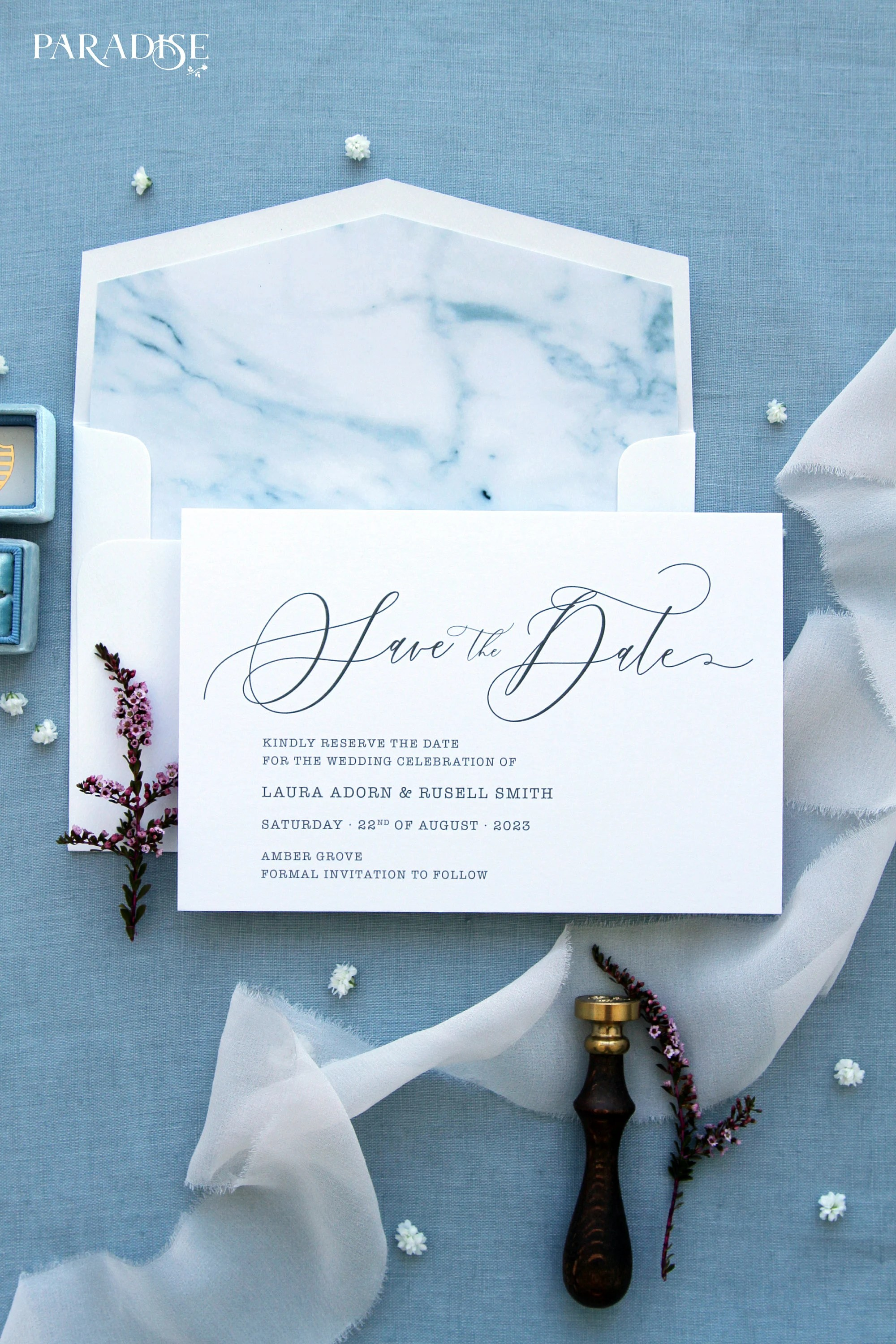 Laverna Script Save the Date Cards Beach Save the Dates Etsy