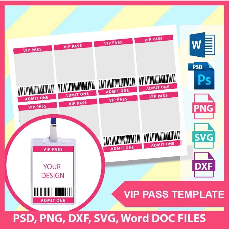 vip pass template microsoft word - Canasbergdorfbib