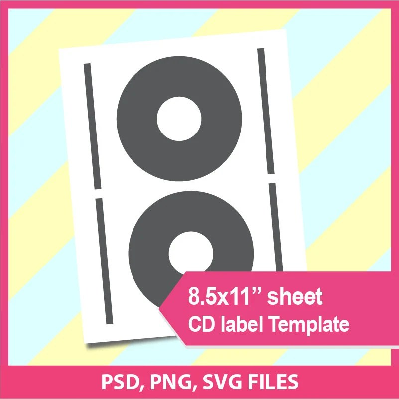 Cd label template diy Dvd label template Microsoft word doc Etsy