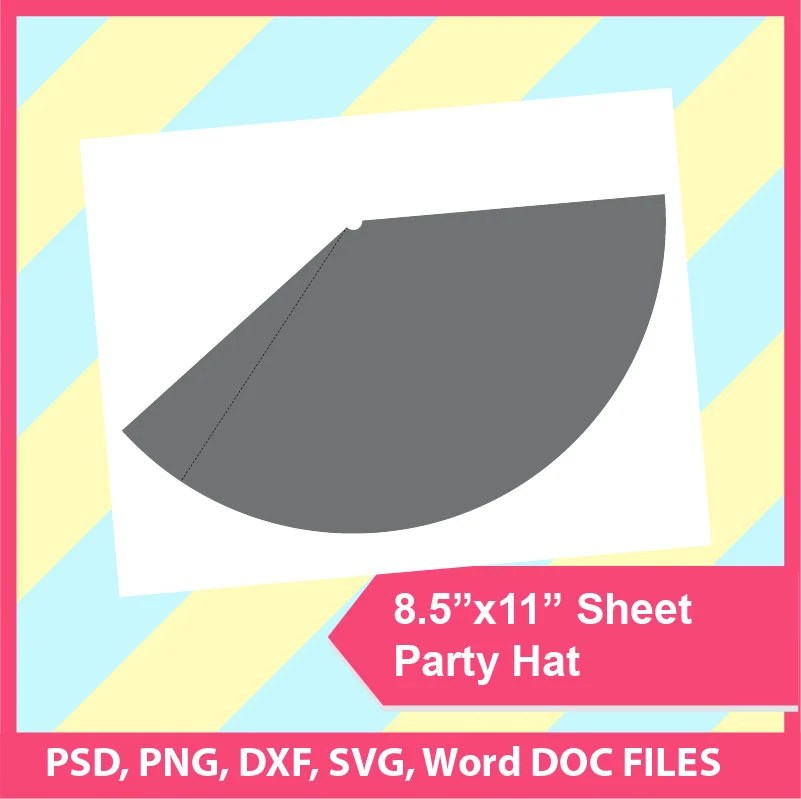 Party Hat Template Microsoft word doc PSD PNG and SVG Etsy