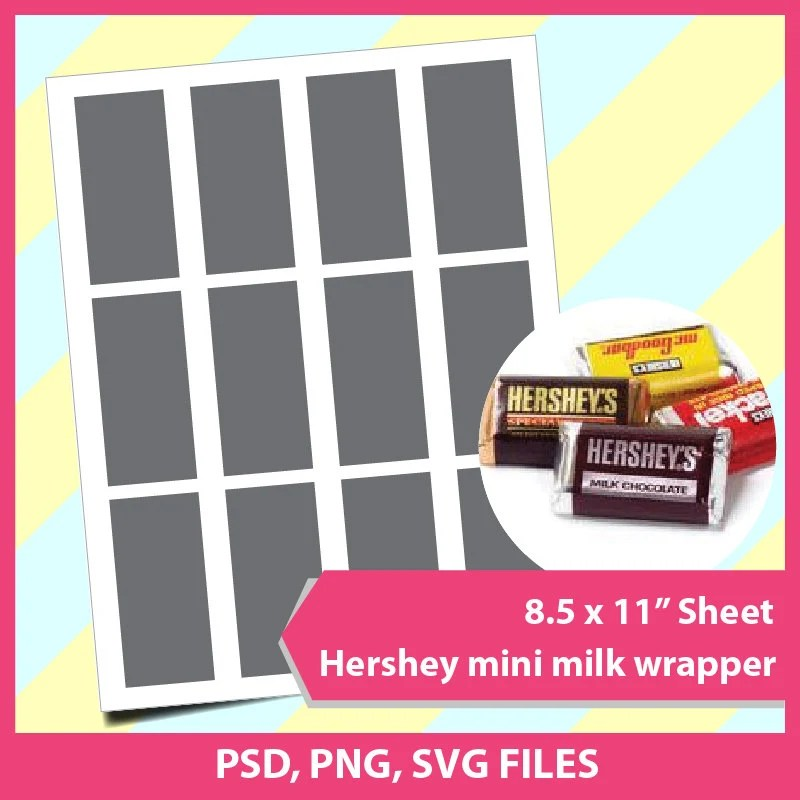 Hershey Candy Bar Wrapper Template Microsoft word doc PSD Etsy