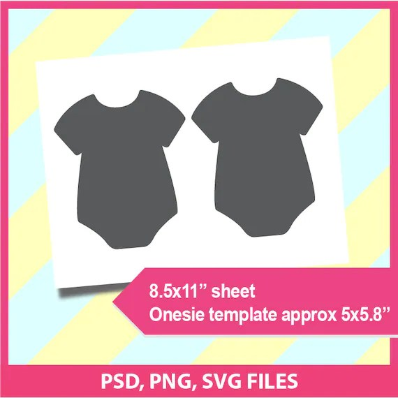 Instant Download Onesie Template Microsoft word doc PSD Etsy