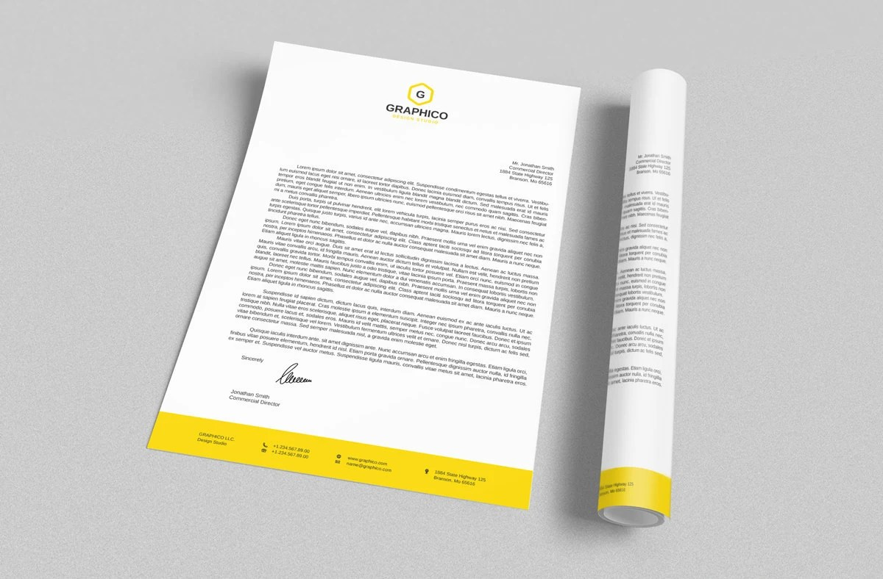 Corporate Letterhead Design Template Adobe Illustrator / Etsy