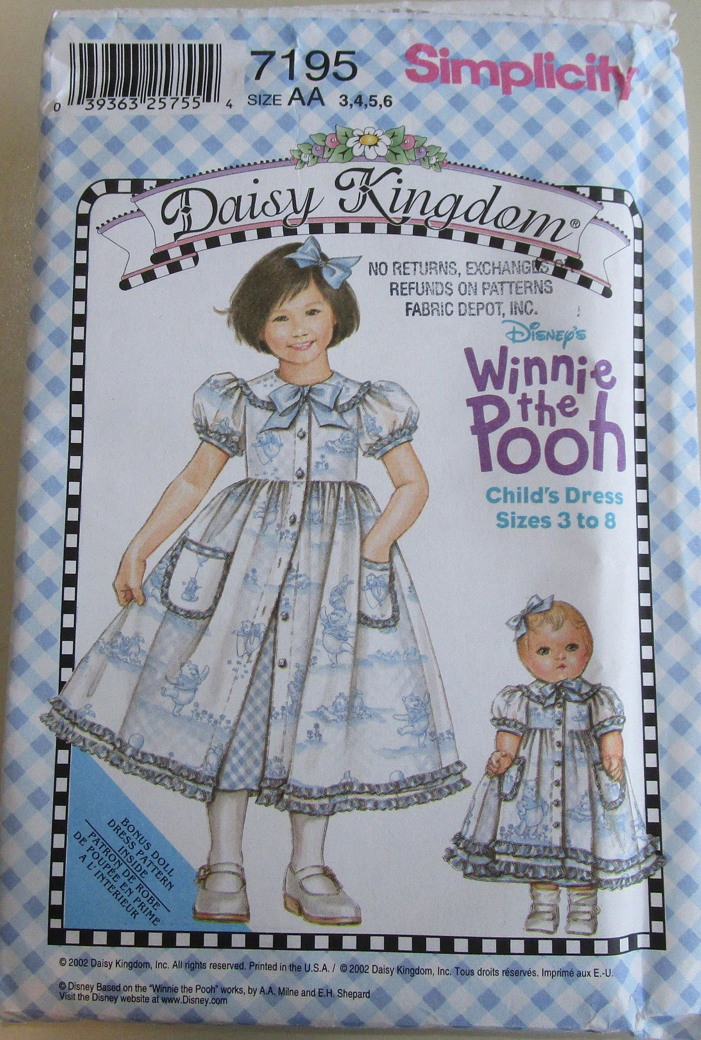 Design D'intérieur Dess Daisy Kingdom Sewing Pattern For Girl S Dress And Slip By Simplicity Included Is Doll Dress Pattern