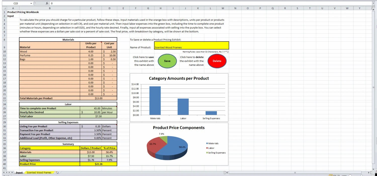 Product Pricing Calculator - product pricing calculator