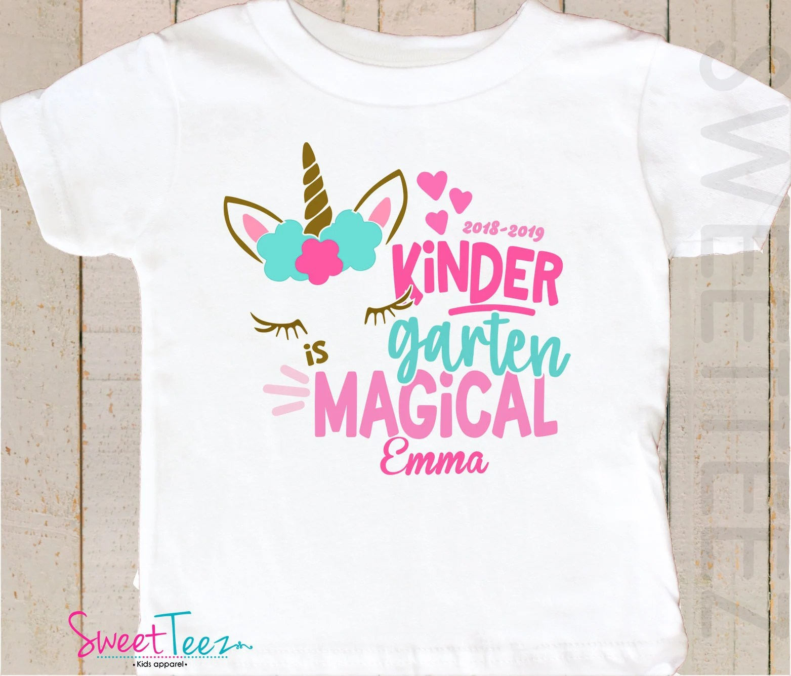 Big W School Shirts Kindergarten Shirt Kindergarten Shirt Unicorn Personalized Kindergarten Shirt Back To School Shirt Personalized Kindergarten T Shirt