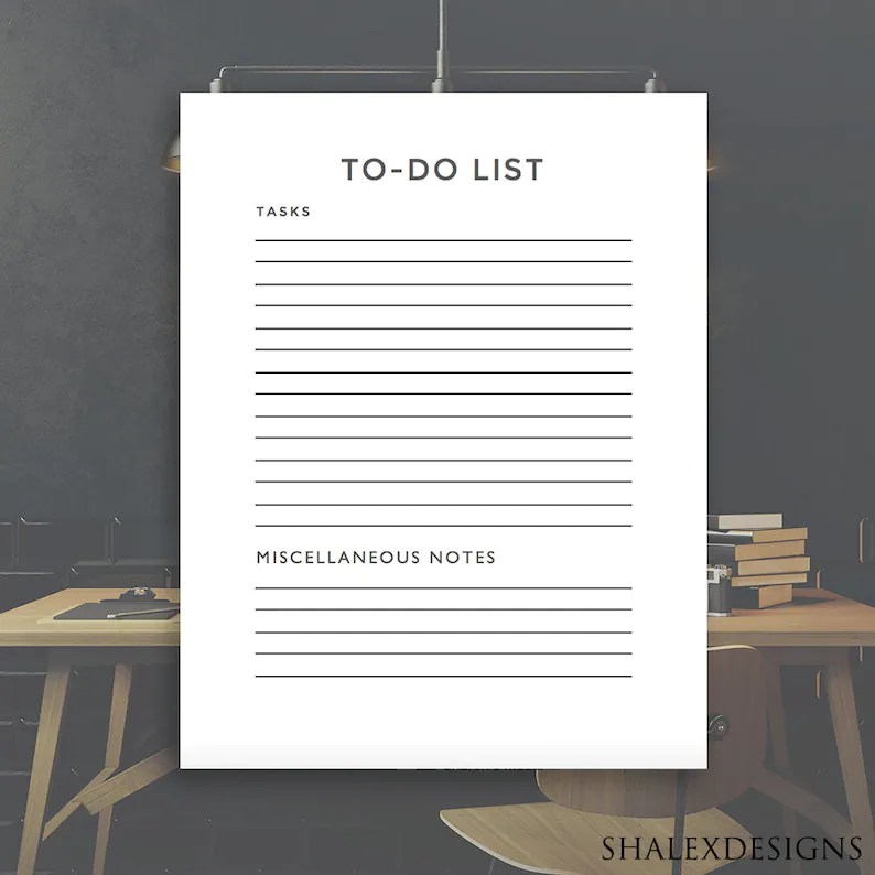 To-Do List Template Planner PDF and Microsoft Word Document Etsy