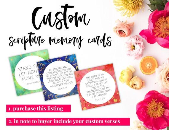 Custom Memory Verse Cards Printable Instant Digital Etsy