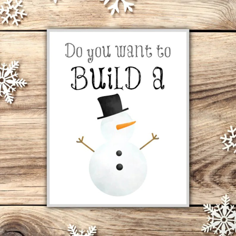 Do You Want to Build a Snowman Poster Printable 8x10 Frozen Etsy