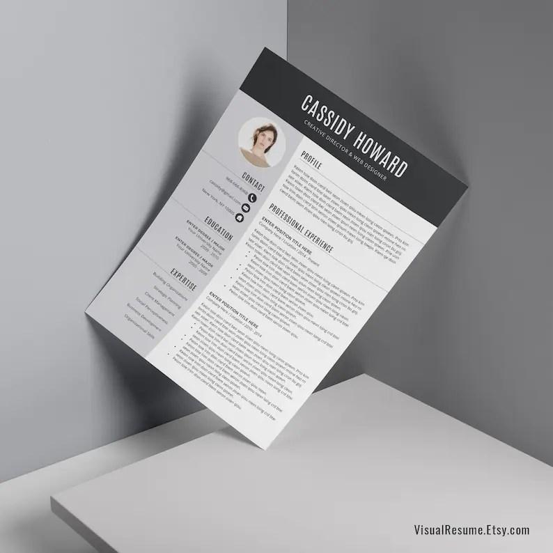 2019 Creative Resume CV Resume Word Resume Builder MBA Etsy