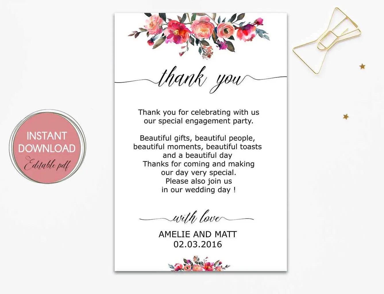 Wedding thank you letter wedding thank you notes Etsy