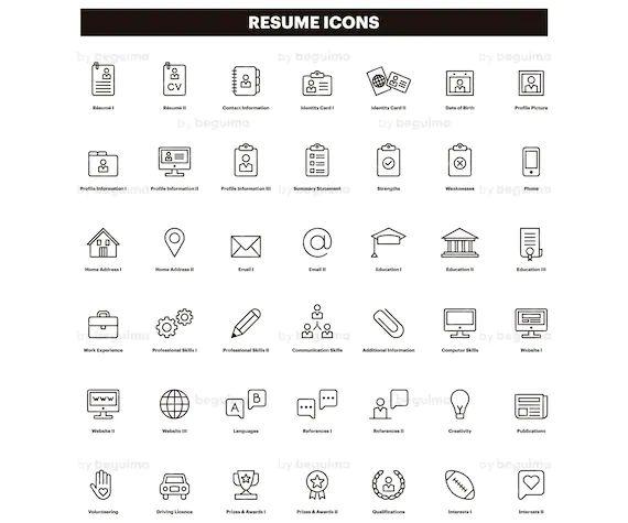 icones cv centre etoiles