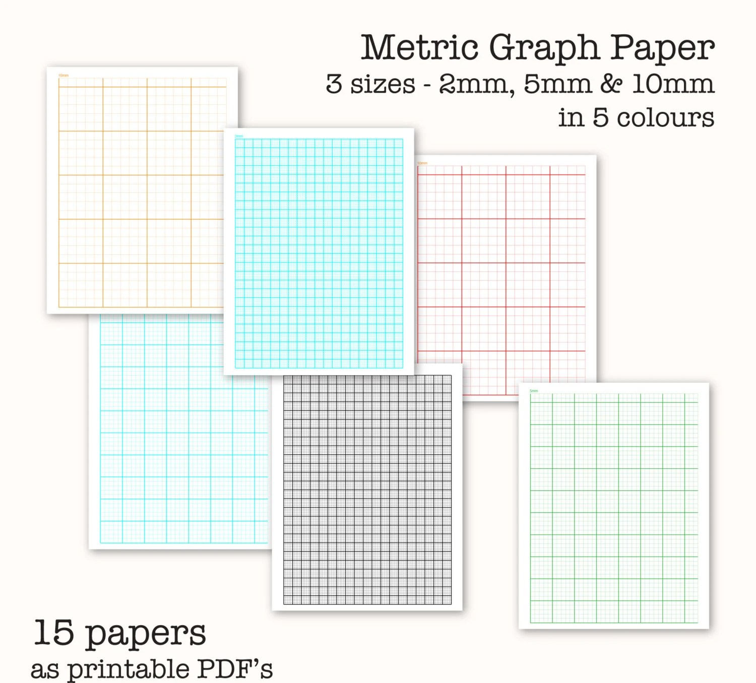 15 Metric Scale Graph Papers Digital Graph Paper PDF - digital graph paper
