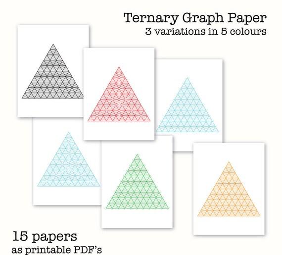 15 Ternary Graph Papers Triangular Graph Paper Digital