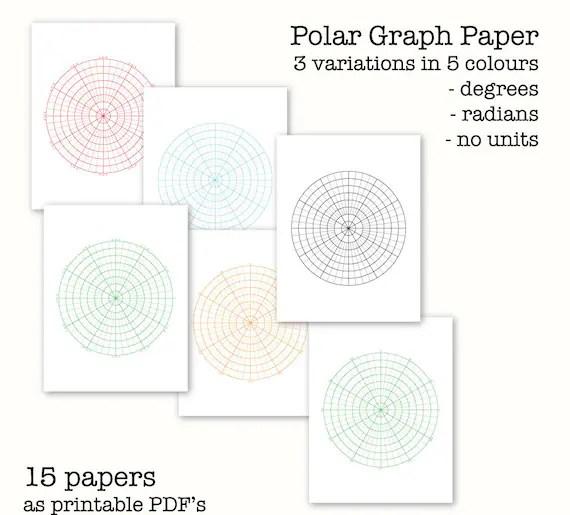 15 Polar Graph Papers Circular Graph Paper Digital Graph - digital graph paper