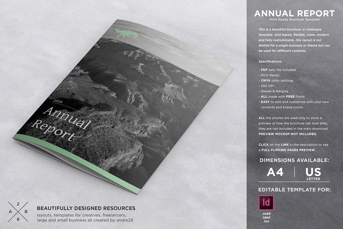 Annual Report Template Etsy