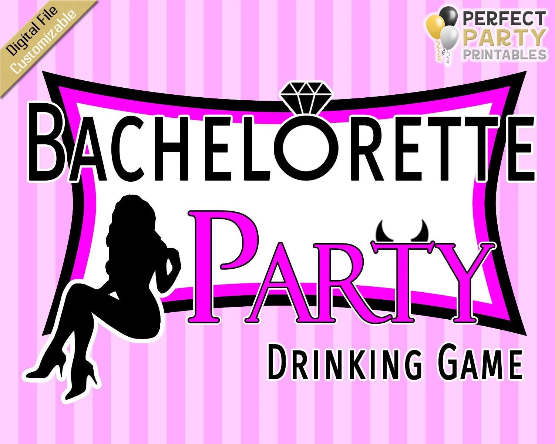 Bachelorette Drinking Board Game Etsy