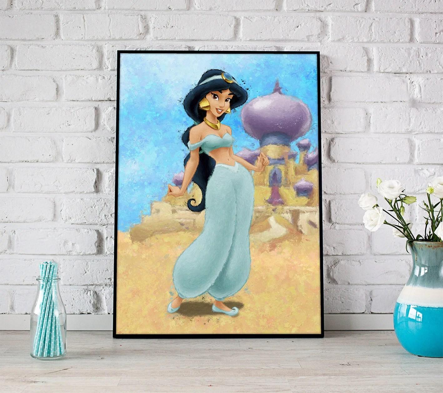 Disney princess jasmine print disney gifts jasmine decor Etsy