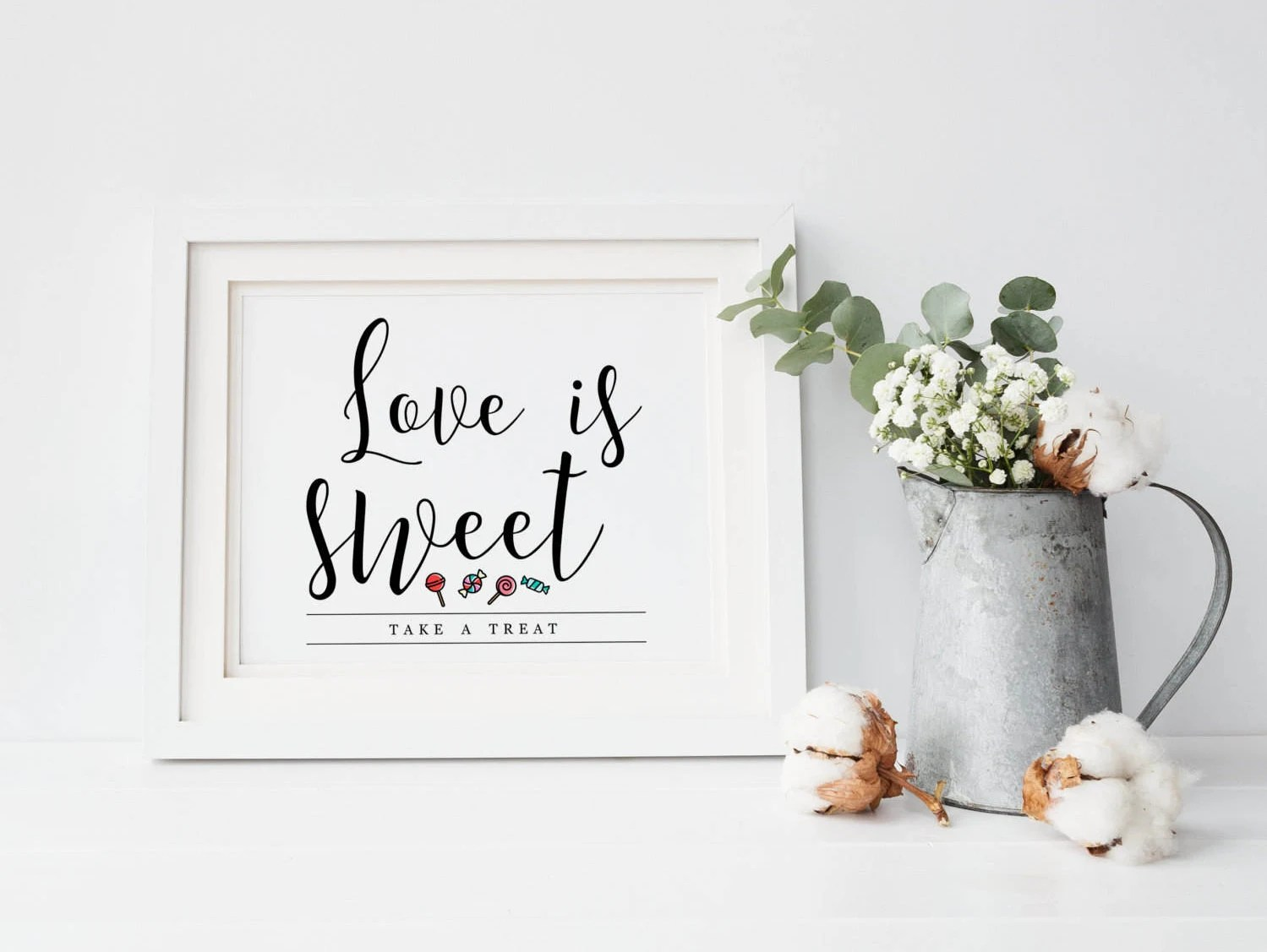 Printable Candy Buffet Sign Printable Love is Sweet Sign Etsy