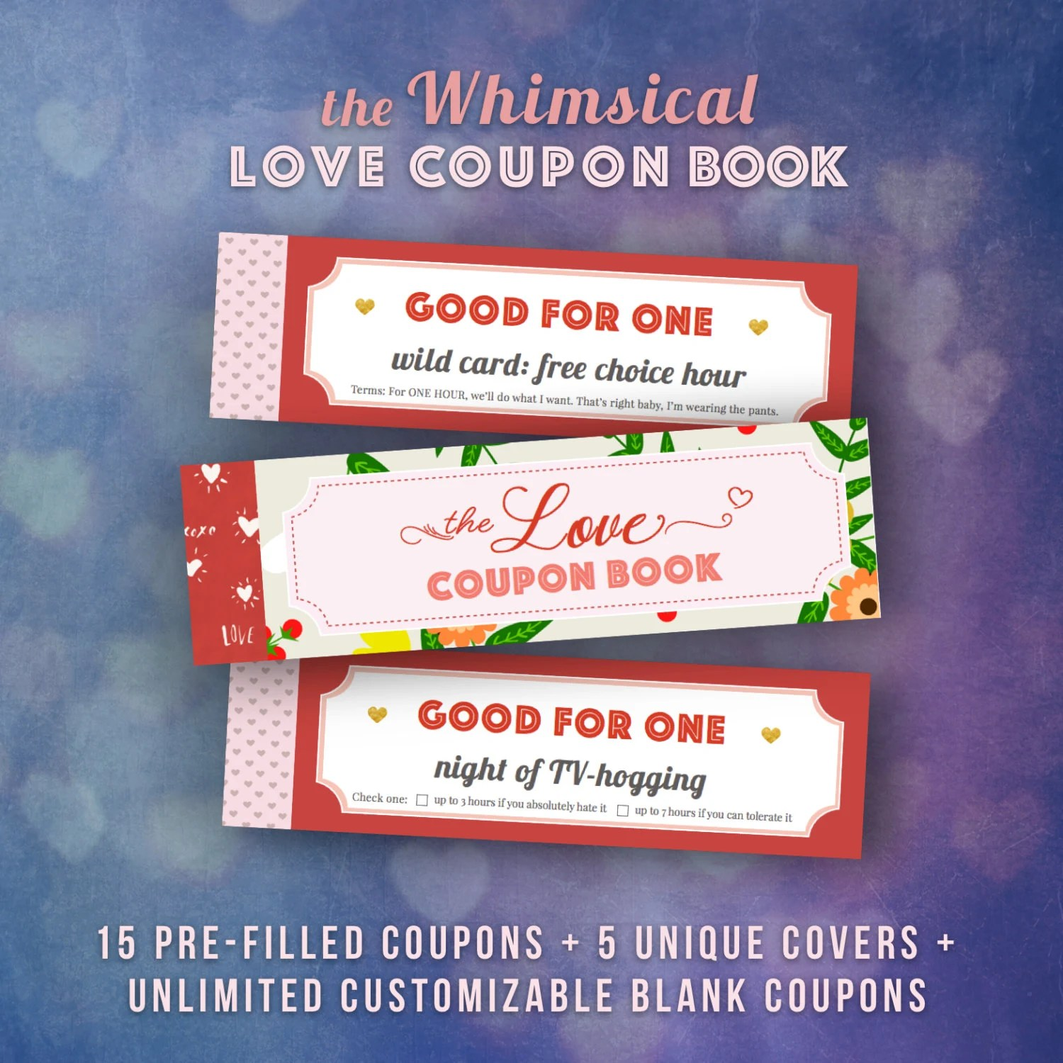 Love Coupons Book for Him Valentines Day Gift Ideas Husband Etsy