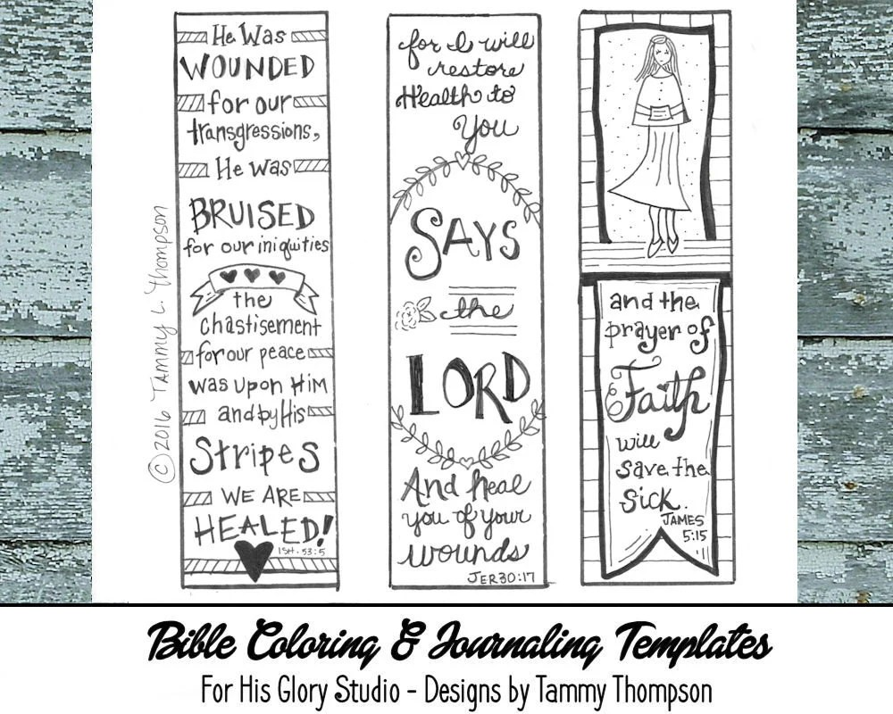 By His Stripes 1 Bible journaling Doodles Coloring Etsy