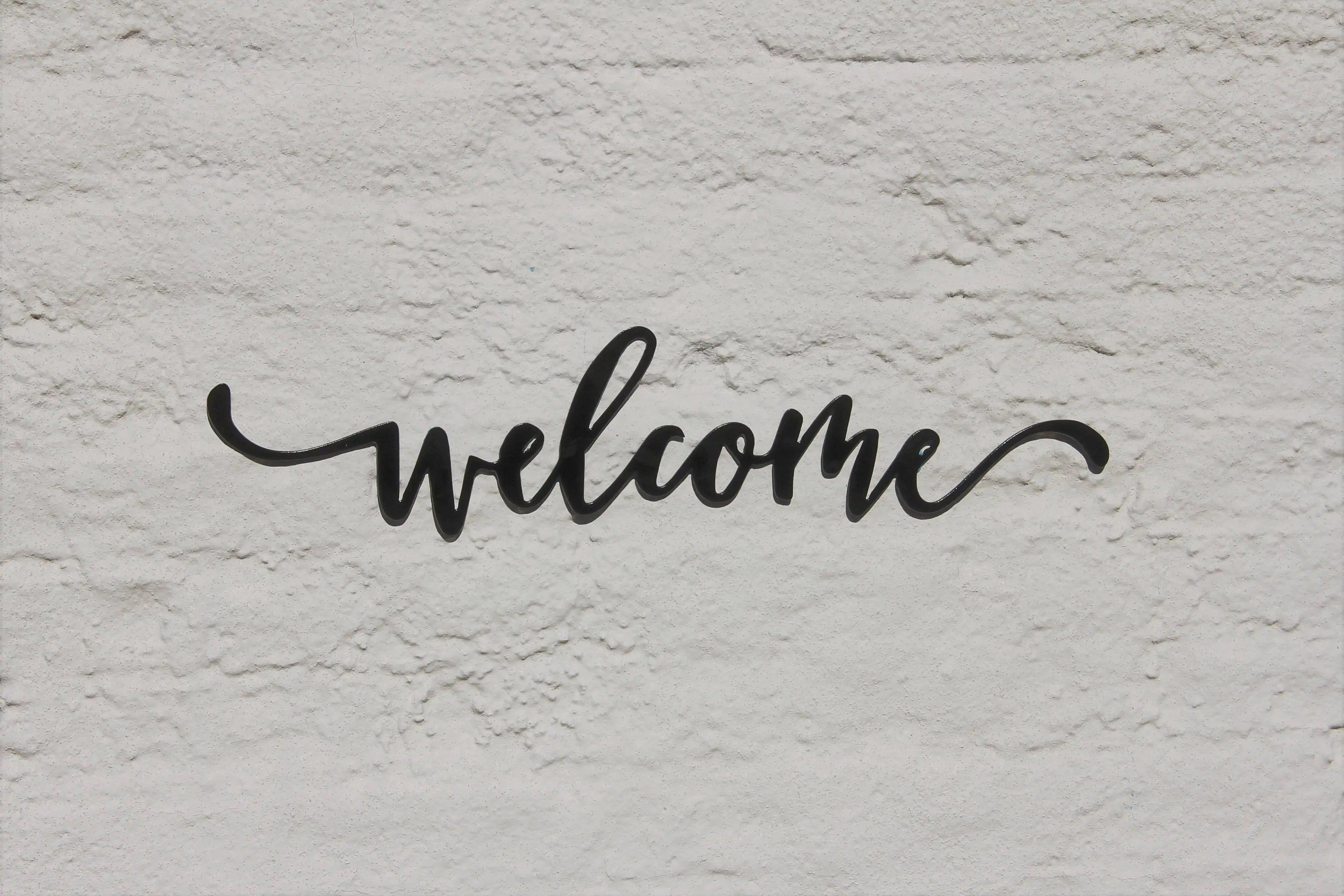 Welcome Sign Welcome Word Wall Art Metal Wall Art Decor Etsy