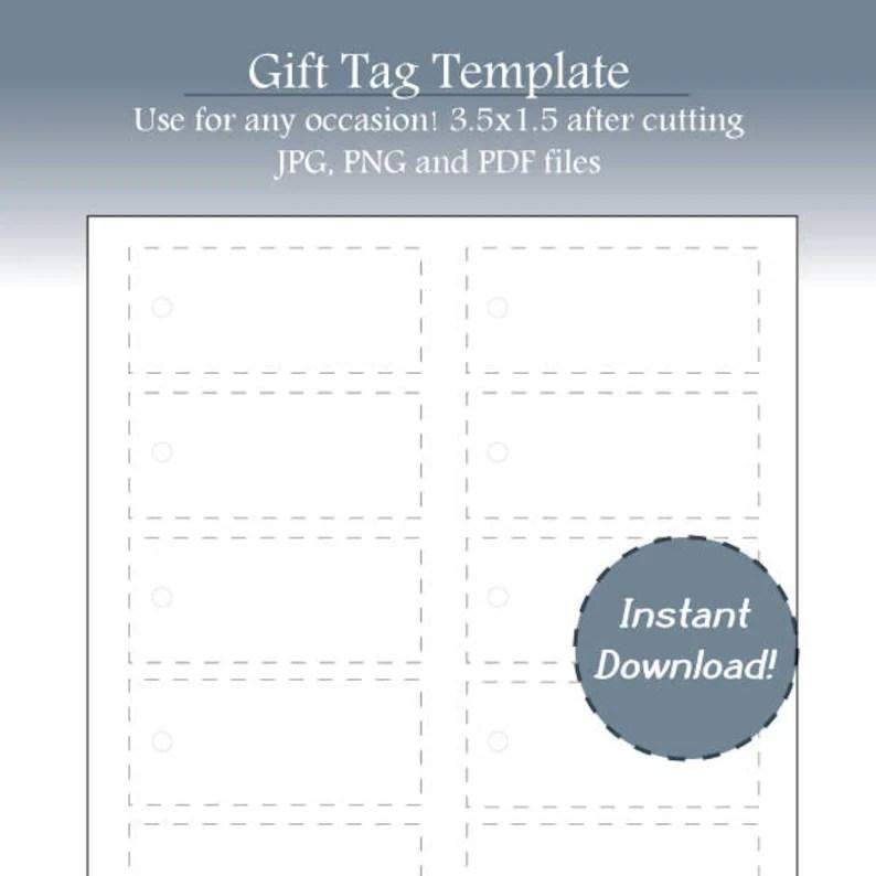 Holiday Tags Christmas Tags Gift Tag Template Gift Tag Etsy