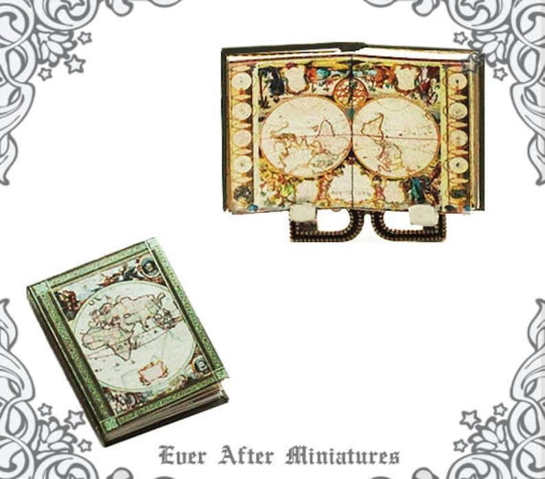 ANTIQUE ATLAS Map Dollhouse Miniature Book 112 Miniature Etsy