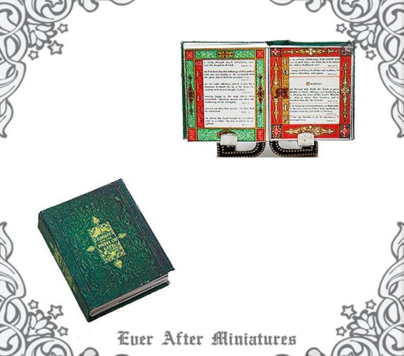 112 Illuminated Manuscript Miniature Dollhouse Book 6 Etsy