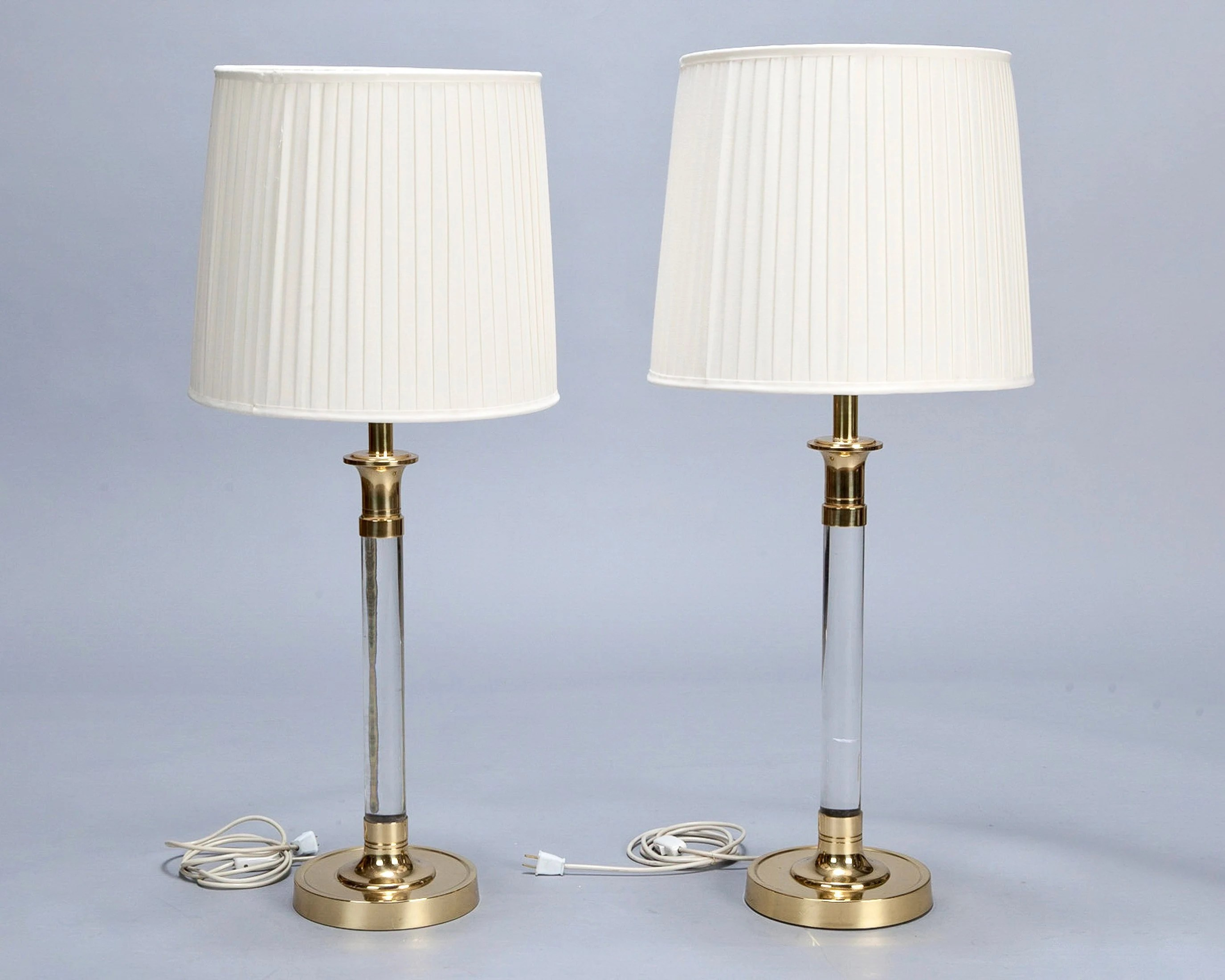 Lamp Method Price Pair Tall Mid Century Lucite And Brass Table Lamps 5728