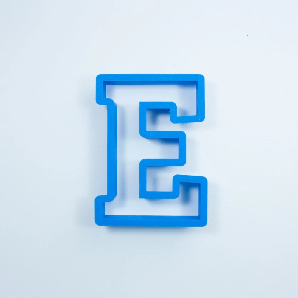 Block Letter E Cookie Cutter Alphabet Cookie Cutters Etsy