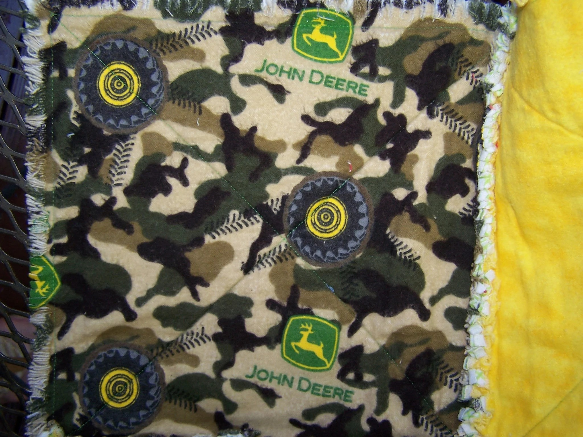 Infant Carrier Military Green And Yellow Tractor Theme Farmer Theme Baby Infant