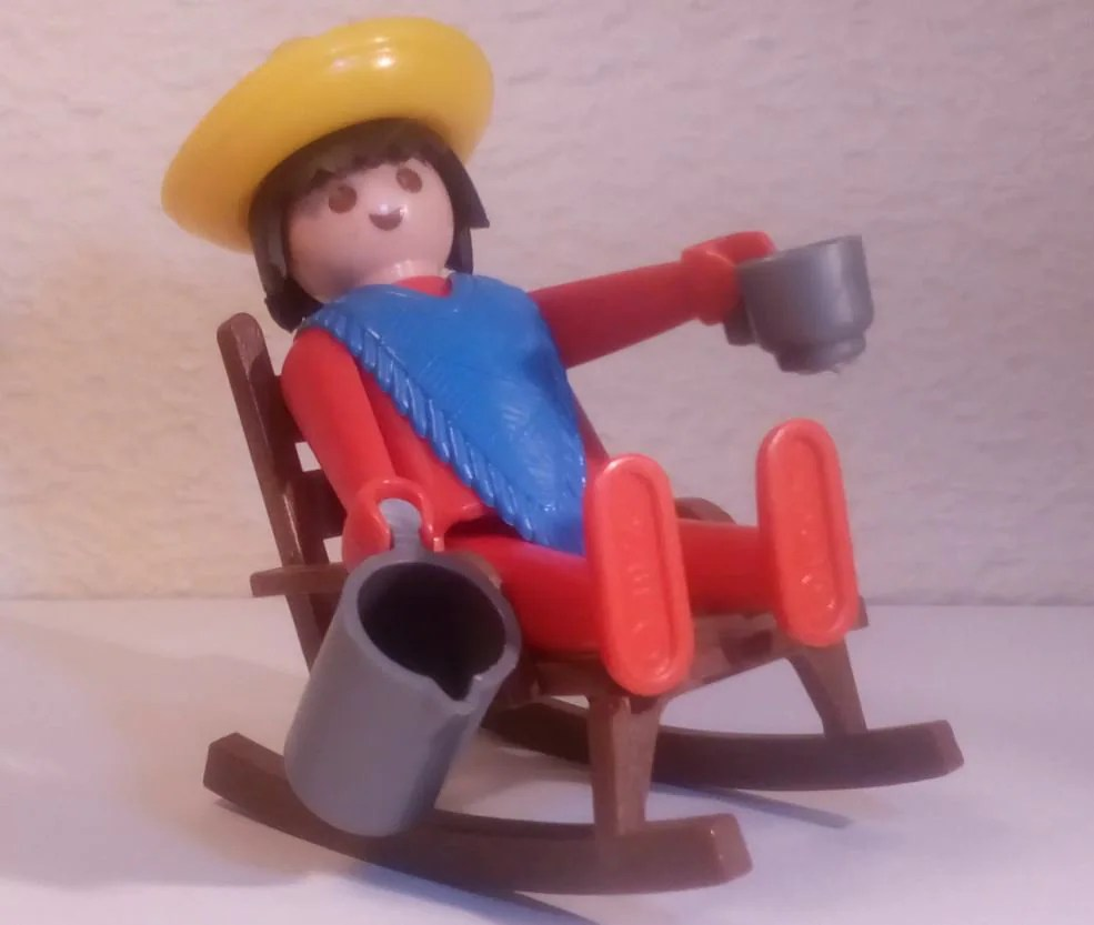 Mexican Rocking Chair Playmobil Mexican And Rocking Chair Vintage 1980 S Collection Without Box And Instructions