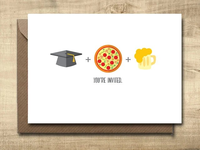 Printable Graduation Party Invitation Card Make Your Own Etsy