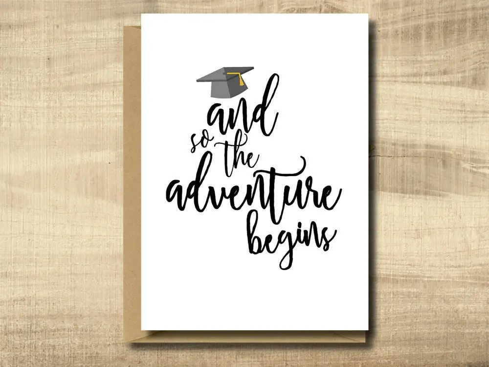 Printable Graduation Card Make Your Own Cards at Home Etsy