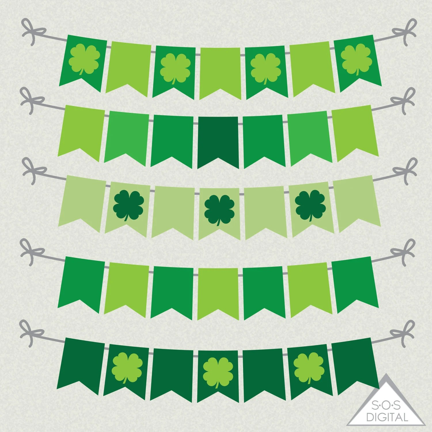 Shamrock Banner, St Patrick\u0027s Day Banner, Four Leaf Clover Banner Clipart,  printable, Small Commercial Use, PNG Banner, Clip art, St Paddy\u0027s